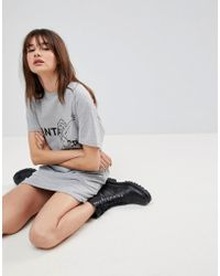 Uncivilised - Santa Cruz Print Open Back T-shirt Dress - Lyst