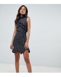 Y.A.S - Salu Windopane Check Mini Skirt - Lyst