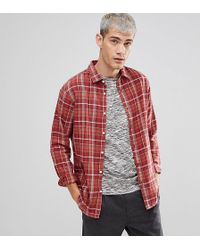 SELECTED - Slim Fit Check Shirt In Heavy Cotton - Lyst