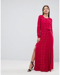 Finders Keepers - Maddox Slit Maxi Dress - Lyst