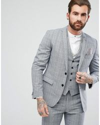 Rudie - Twisted Check Skinny Fit Suit Jacket - Lyst