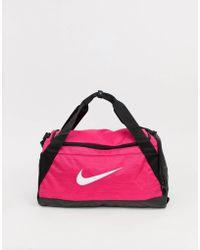 Nike - Duffeltas Met Roze Swooshlogo - Lyst