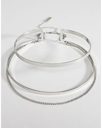 Steve Madden - Cut Out Collar With Chain Choker - Lyst