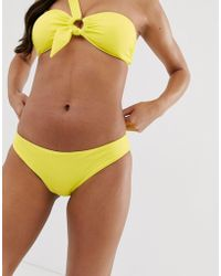 Seafolly - Classic Hipster Bikini Bottom In Neon Lime - Lyst