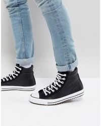 Converse - Chuck Taylor All Star Street Sneaker Boots In Black 157496c001 - Lyst