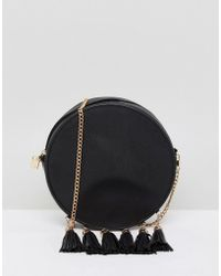 French Connection - Circular Bag With Tassel Edging - Lyst