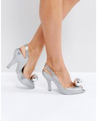 Melissa + Vivienne Westwood Anglomania - Lady Dragon Silver Globe Heeled Shoes - Lyst