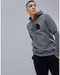 The North Face - Drew Peak Pullover Hoodie In Grey Heather - Lyst