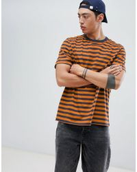 5c15fd9b Weekday - Gabriel Striped T-shirt - Lyst
