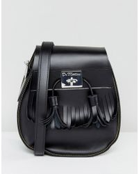 Dr. Martens - Black Tassel Saddle Bag - Lyst