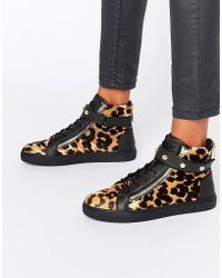 Juicy Couture | Leopard High Top Trainers | Lyst