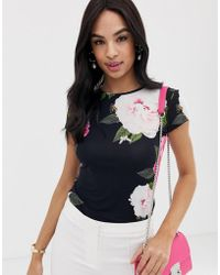 a42620400 Ted Baker - Alanyo Magnificent Floral Fitted T-shirt - Lyst