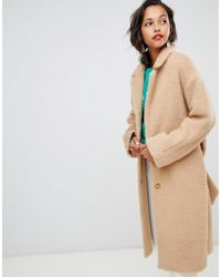 Whistles - Textured Belted Coat - Lyst