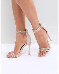 Public Desire - Aurelia Clear Strap Sandals - Lyst