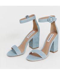 b8b723a21442 Steve Madden - Suede Block Heel Sandals - Lyst