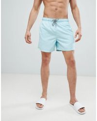 New Look - Swim Shorts In Mint Green - Lyst