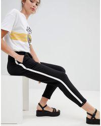 Pull&Bear - Side Stripe Jogger Pant In Black - Lyst