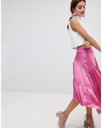 NA-KD - Shiny Asymmetric Skirt - Lyst
