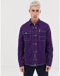 Volcom - Fitzkrieg Shirt Jacket In Purple - Lyst