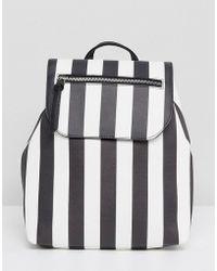 Stradivarius - Stripe Backpack - Lyst