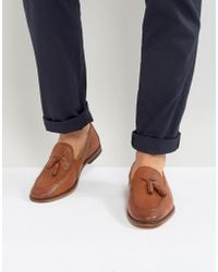 ASOS - Asos Loafers In Tan Leather With Tassel - Lyst