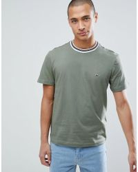 Lacoste - Tipped Ringer T-shirt In Green - Lyst