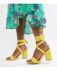 Park Lane - Tie Leg Block Heeled Sandals - Lyst