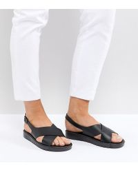ASOS - Frequent Wide Fit Jelly Flat Sandals - Lyst