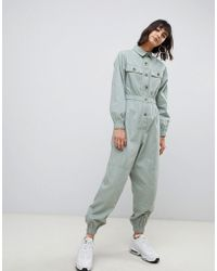 ASOS - Boilersuit With Contrast Buttons - Lyst