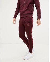 Gym King - Pantaloni della tuta vinaccia con fettuccia - Lyst