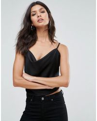 ASOS - Design Backless Cowl Neck Top - Lyst
