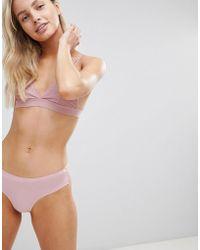 South Beach - Ultra Soft Lace Lace Brazilian Briefs - Lyst