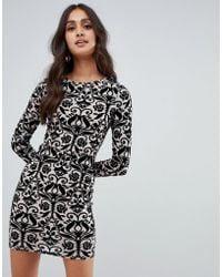 Girls On Film - Printed Bodycon Dress - Lyst
