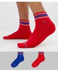 Tommy Hilfiger - Iconic 2 Pack Quarter Socks - Lyst