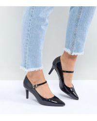 New Look - Patent Point Mary Jane Court Shoe - Lyst