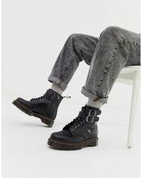 d623cc051b01 Dr. Martens 101 Br 6-eye Triple Black Boots in Black for Men - Lyst