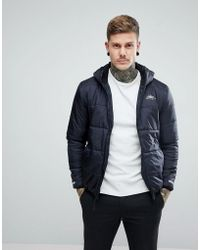 Penfield - Schofield Hooded Jacket Lightweight Quilted In Black - Lyst