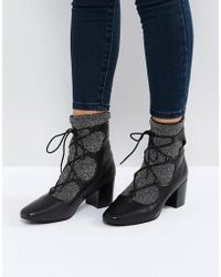 Sol Sana - Cupid Black Leather Glitter Ghillie Boots - Lyst
