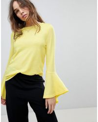 ONLY - Sweater With Fluted Sleeve - Lyst