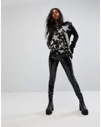 Tripp Nyc - High Shine Pu Trousers - Lyst