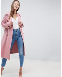 ASOS - Double Breasted Soft Formal Coat - Lyst