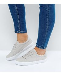 2b8b33413aea ASOS DESIGN - Asos Devlin Wide Fit Lace Up Sneakers - Lyst