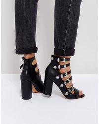 cc2eff578ec7 New Look Cross Strap Suedette Platform Sandals in Black - Lyst