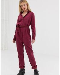 One Teaspoon - Linen Boiler Suit - Lyst
