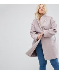 ASOS - Textured Throw On Coat - Lyst