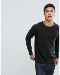 SELECTED - Knitted Jumper In Ribbed 100% Organic Cotton - Lyst