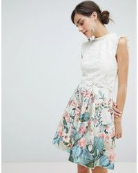 Oasis - Fitzwilliam Lace 2 In 1 Skater Dress - Lyst