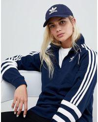 adidas Originals - Trefoil Logo Cap In Navy - Lyst