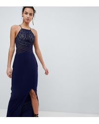 Coast - Adeline Maxi Dress With Mesh Bust - Lyst