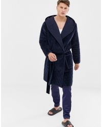 ASOS - Dressing Gown In Quilted Velvet - Lyst